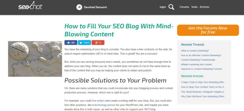 How to Fill Your SEO Blog With Mind-Blowing Content - SEO Chat - Opera_2017-06-14_02-40-14